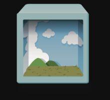 Glitch bag furniture blue diorama display box by wetdryvac