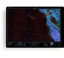 USGS TOPO Map California CA San Francisco 302117 1964 250000 geo Inverted Canvas Print