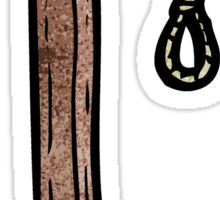 cartoon noose Sticker
