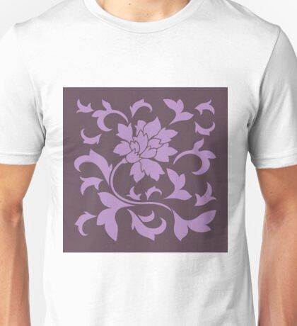 Oriental Flower - Lilac and Cherry Chocolate Unisex T-Shirt