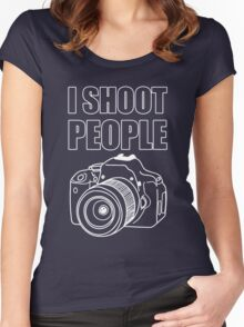 I Shoot People (Photography)  Women's Fitted Scoop T-Shirt