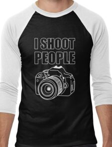 I Shoot People (Photography)  Men's Baseball ¾ T-Shirt