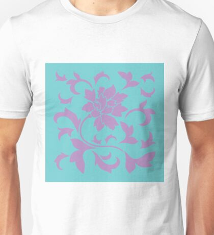 Oriental Flower - Lilac and Mint Unisex T-Shirt