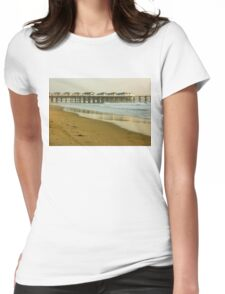 San Diego Crystal Pier -  Womens Fitted T-Shirt