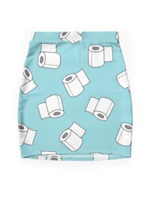 doodle pattern. toilet paper Mini Skirt