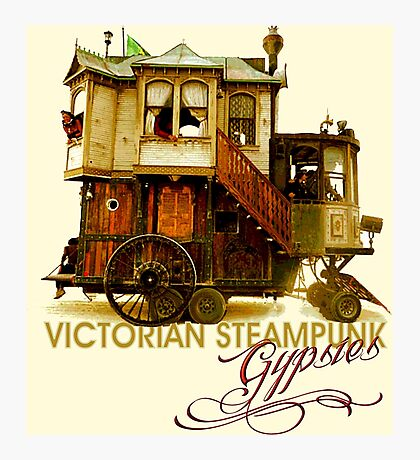 Victorian Steampunk Gypsies Photographic Print
