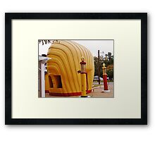 """Old Time Shell """"Shell Shaped"""" Service Station Framed Print"""