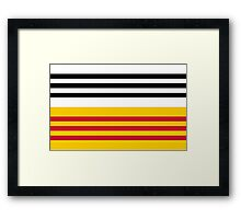 Flag of Loon op Zand. The Netherlands Framed Print