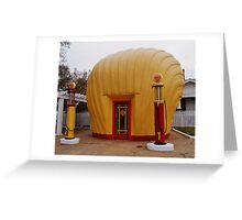 """Old Timey """"Shell Shaped"""" Shell Station Greeting Card"""