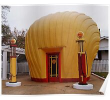 """Old Timey """"Shell Shaped"""" Shell Station Poster"""