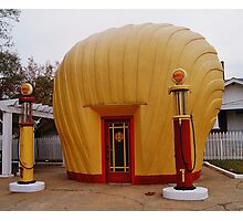 "Old Timey ""Shell Shaped"" Shell Station Photographic Print"