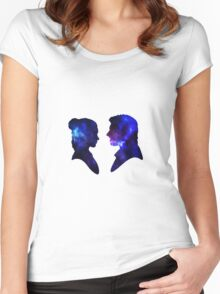 Love Story - Han and Leia Women's Fitted Scoop T-Shirt