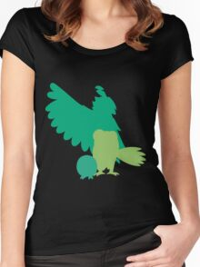 Rowlet evolutions Women's Fitted Scoop T-Shirt