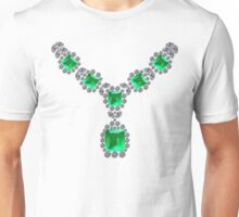 'Look at Me' Emerald Necklace Unisex T-Shirt