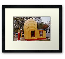 Shell Shaped Shell Station Framed Print