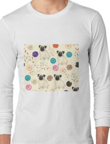 Pugs and donuts Long Sleeve T-Shirt
