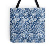 Indigo and White William Morris Pattern Tote Bag