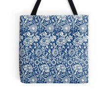 Indigo and White William Morris Pattern Tote Bag