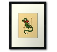 "Oscar and the Roses ""N"" (Illustrated Alphabet) Framed Print"