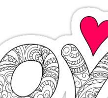 zen love with red heart Sticker