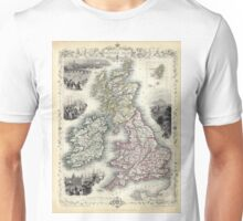 The British Isles - Tallis - 1851 Unisex T-Shirt