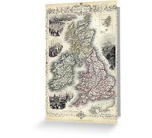 The British Isles - Tallis - 1851 Greeting Card