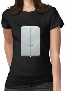 Glitch bag furniture cabinet simply white cabinet Womens Fitted T-Shirt