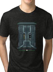 Glitch bag furniture cabinet spaceship locker Tri-blend T-Shirt
