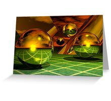 Noble Metal Worlds Greeting Card