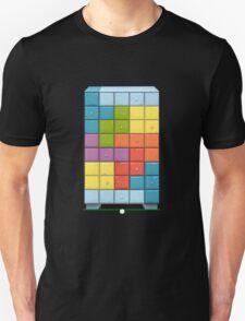 Glitch bag furniture cabinet tetromino cabinet T-Shirt