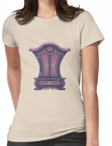 Glitch bag furniture cabinet violet voyage cabinet Womens Fitted T-Shirt