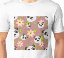 Panda and Flowers Unisex T-Shirt