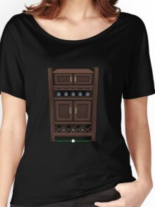 Glitch bag furniture cabinet wine cabinet Women's Relaxed Fit T-Shirt