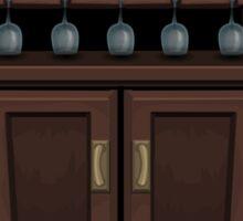 Glitch bag furniture cabinet wine cabinet Sticker
