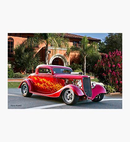 1934 Ford 'Cruz'n the Hood' Coupe Photographic Print