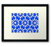 Geometrical Blue - Floral Decor Framed Print