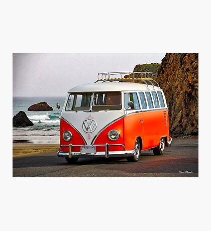 VW Surfer Bus 'Against the Tide' Photographic Print