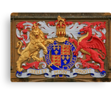 Sherborne School Coat of Arms Canvas Print