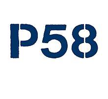 P58 - LOGO BLUE ON WHITE OR LIGHT by platform58