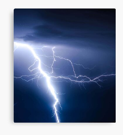 Lightning, Dark Lightning, Fork Lightning Canvas Print