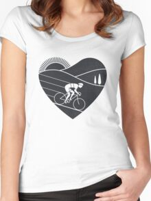 Love Cycling  Women's Fitted Scoop T-Shirt