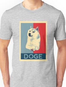 DOGE - doge shepard fairey poster with dog red / blue Unisex T-Shirt