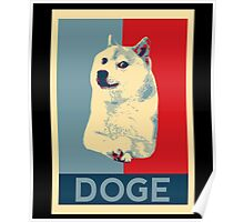 DOGE - doge shepard fairey poster with dog red / blue Poster