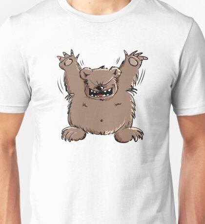 Fröhlicher Bär freut sich, Dich zu sehen Unisex T-Shirt