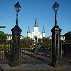 St Louis Cathedral in the morning by Allen Lucas