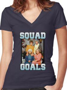 Golden Girls Squad Goals Women's Fitted V-Neck T-Shirt
