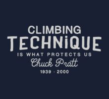 Climbing Technique Is What Protects Us Kids Tee