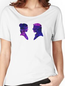 Han and Leia Water Colour Women's Relaxed Fit T-Shirt