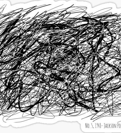 No 5, 1948- Jackson Pollock Sticker