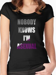 Asexual Women's Fitted Scoop T-Shirt